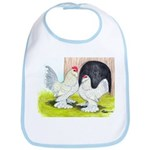Porcelain d'Uccle Rooster and Bib