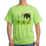 Porcelain d'Uccle Rooster and Green T-Shirt