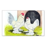 Porcelain d'Uccle Rooster and Sticker (Rectangular