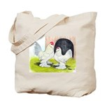 Porcelain d'Uccle Rooster and Tote Bag