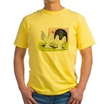 Porcelain d'Uccle Rooster and Yellow T-Shirt
