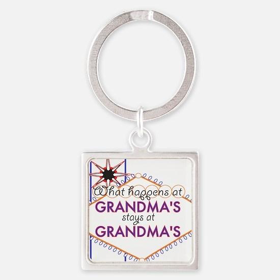 Grandma's House Square Keychain