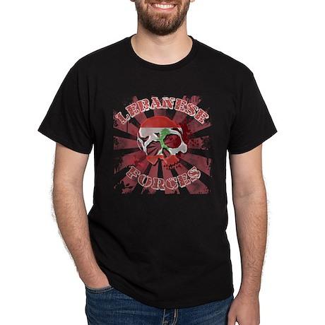 Lebanese Forces Skull Dark T-Shirt