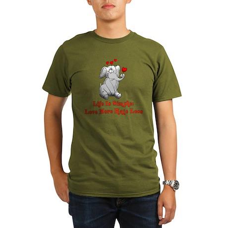 Love More Hate Less Organic Men's T-Shirt (dark)