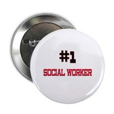 """Number 1 SOCIAL WORKER 2.25"""" Button"""