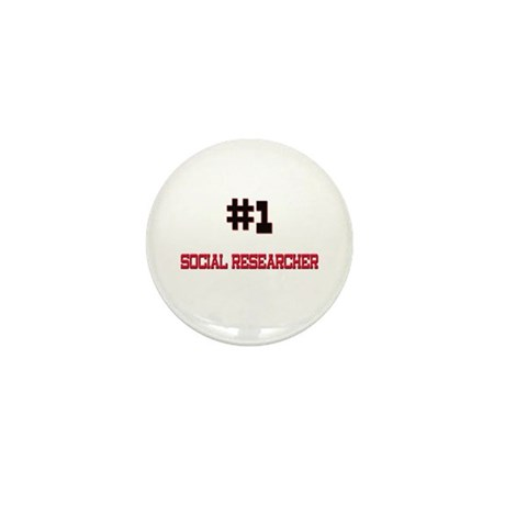 Number 1 SOCIAL RESEARCHER Mini Button