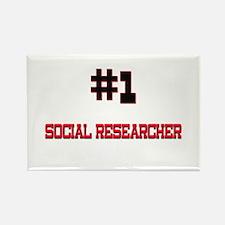 Number 1 SOCIAL RESEARCHER Rectangle Magnet