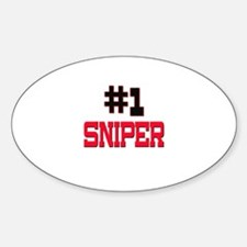 Number 1 SNIPER Oval Decal