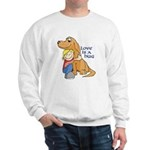 Golden Retriever Happiness Sweatshirt