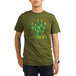 Earth Day Skulls Organic Men's T-Shirt (dark)