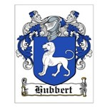 Hubbert Coat of Arms Small Poster