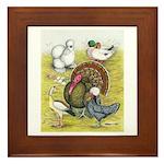 Assorted Poultry #3 Framed Tile