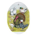 Assorted Poultry #3 Oval Ornament