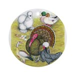 Assorted Poultry #3 Ornament (Round)