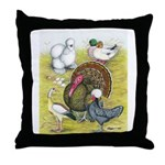 Assorted Poultry #3 Throw Pillow