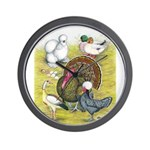 Assorted Poultry #3 Wall Clock