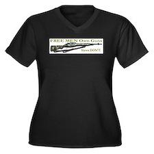 Free Men own rifles Women's Plus Size V-Neck Dark