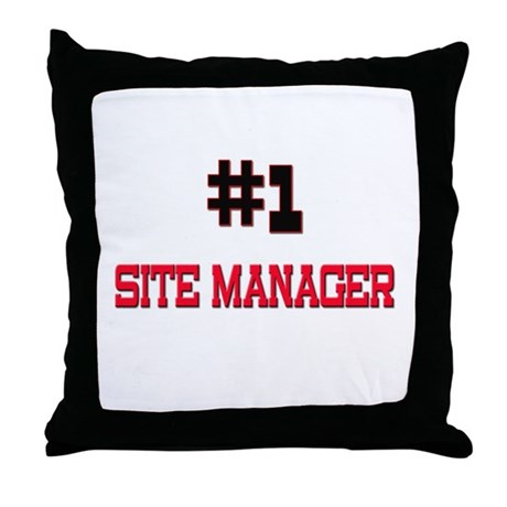 Number 1 SITE MANAGER Throw Pillow