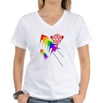 AKA Sport Kite Stacks Women's V-Neck T-Shirt
