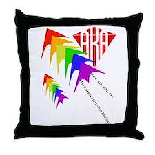 AKA Sport Kite Stacks Throw Pillow
