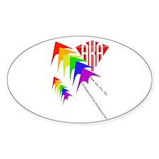 AKA Sport Kite Stacks Oval Decal