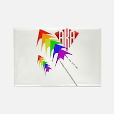AKA Sport Kite Stacks Rectangle Magnet