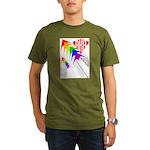 AKA Sport Kite Stacks Organic Men's T-Shirt (dark)