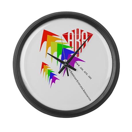 AKA Sport Kite Stacks Large Wall Clock