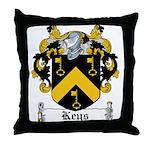 Keys Coat of Arms Throw Pillow