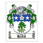 Kidd Coat of Arms Small Poster