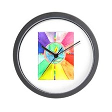 UU World Chalice Wall Clock