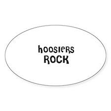 HOOSIERS ROCK Oval Decal