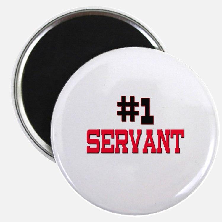"""Number 1 SERVANT 2.25"""" Magnet (10 pack)"""