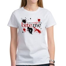 I am a Twilight Fan Bite Me Tee