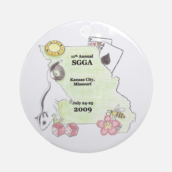 Official SGGA 2009 LOGO Ornament (Round)