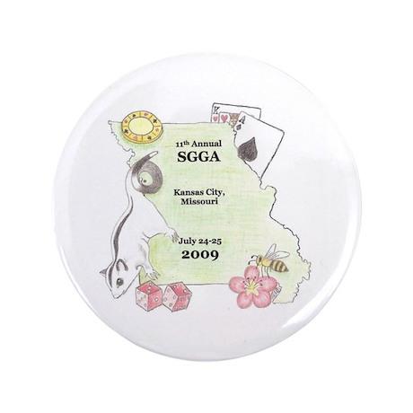 """Official SGGA 2009 LOGO 3.5"""" Button"""