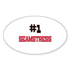 Number 1 SEAMSTRESS Oval Decal