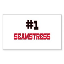 Number 1 SEAMSTRESS Rectangle Decal