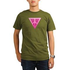 Q-Peace Triangle Organic Men's T-Shirt (dark)