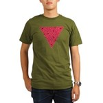 Pink Triangle Knot Organic Men's T-Shirt (dark)