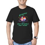 Autistics Spin the World Men's Fitted T-Shirt (dar