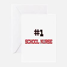 Number 1 SCHOOL NURSE Greeting Cards (Pk of 10)