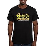 Autistic Activist (Gold) Men's Fitted T-Shirt (dar