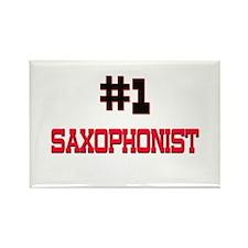 Number 1 SAXOPHONIST Rectangle Magnet