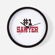 Number 1 SAWYER Wall Clock