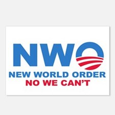 No Obama NWO No we can't Postcards (Package of 8)