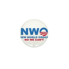 No Obama NWO No we can't Mini Button (100 pack)