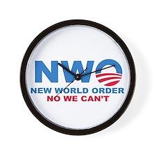 No Obama NWO No we can't Wall Clock