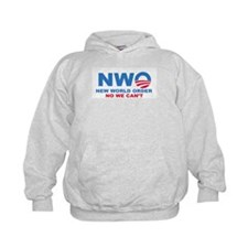 No Obama NWO No we can't Hoodie