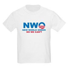 No Obama NWO No we can't T-Shirt